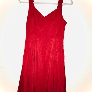 Modcloth Dress Red medium pockets